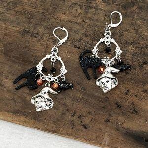 BETSEY JOHNSON Halloween Witch Chandelier Earrings